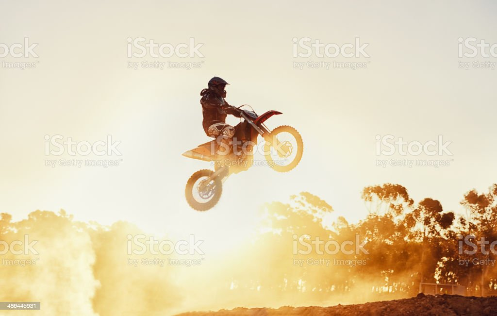 He's way out in front stock photo