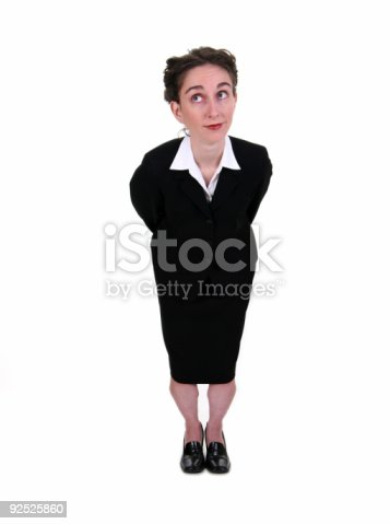 istock Hesitant business expression. 92525860