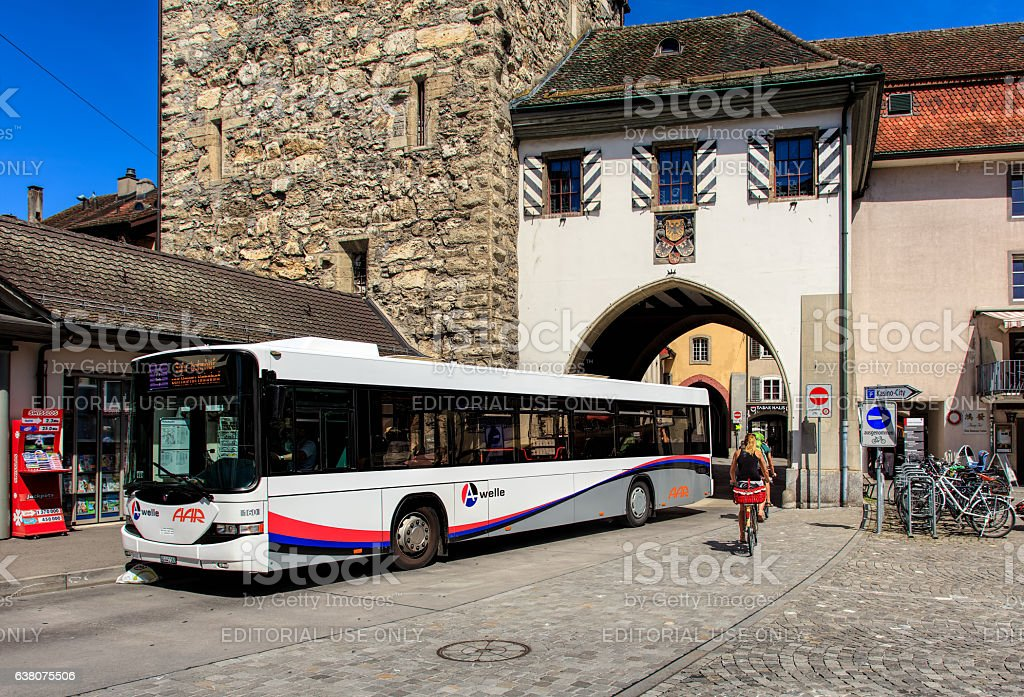 Hess bus in Aarau, Switzerland – Foto