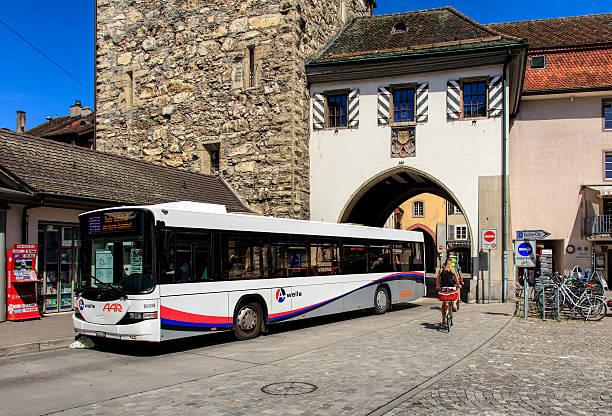 Hess bus in Aarau, Switzerland – Foto