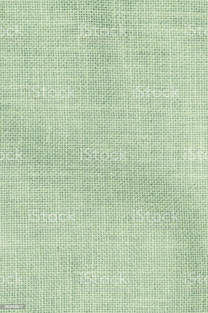 Hessian sackcloth woven texture pattern background in light pale green earth color - Royalty-free Abstract Stock Photo