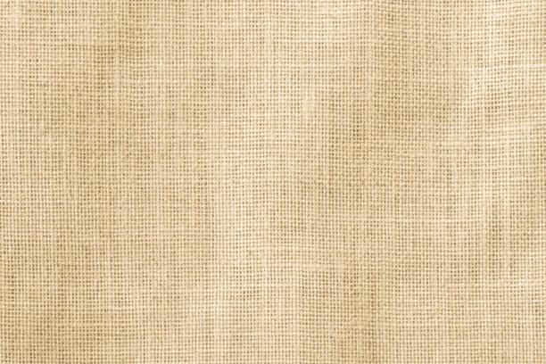 Hessischen Sackleinen gewebt Textur Muster Hintergrund in gelb Beige Creme braun Farbe – Foto