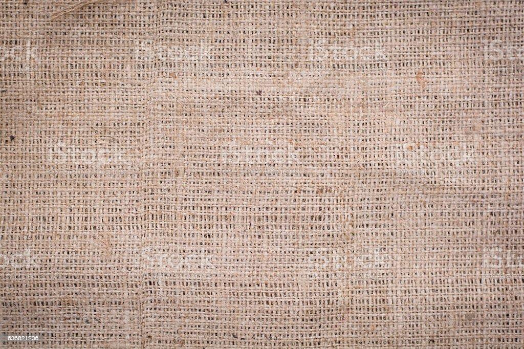 Hessian sackcloth woven texture pattern background stock photo