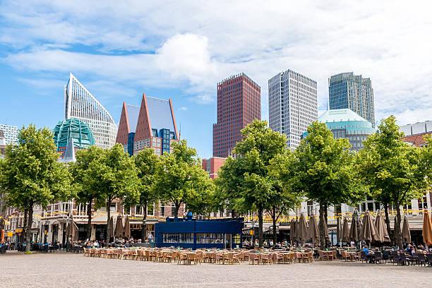 het plein - the large square in the hague - den haag stockfoto's en -beelden