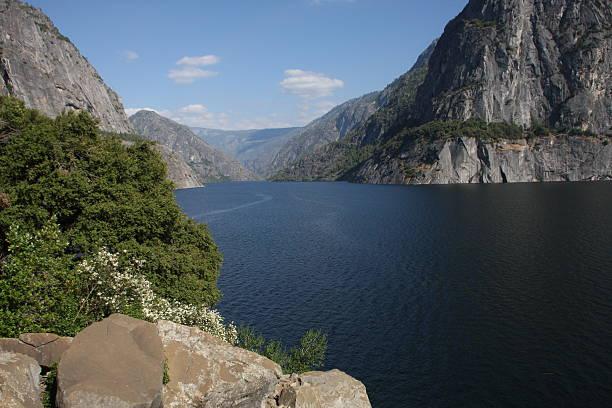 Hetch Hetchy Reservoir in Yosemite National Park stock photo