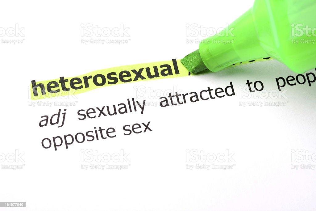 Hertosexual dictionary