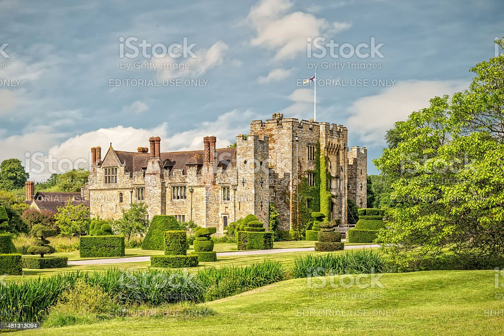 Hever castle and gardens in Kent, England stock photo