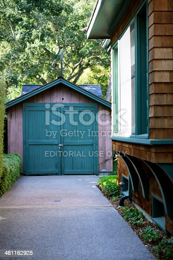 San Jose, CA, USA-October 10 2013: Hewlett Packard Garage, which is the birthplace of the world's first high-technology region,