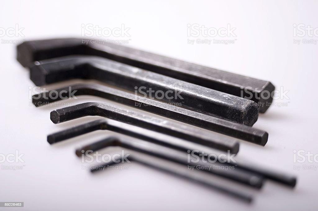 hex keys stock photo