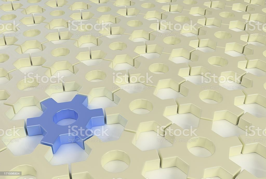 Hex Links royalty-free stock photo