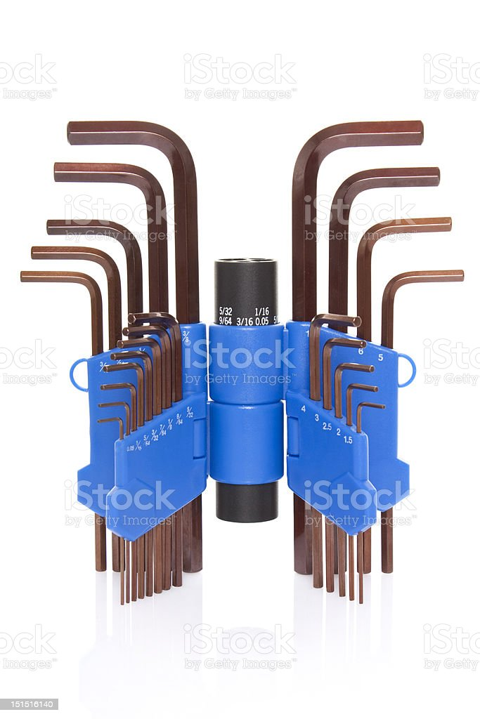 Hex wrench stock photo