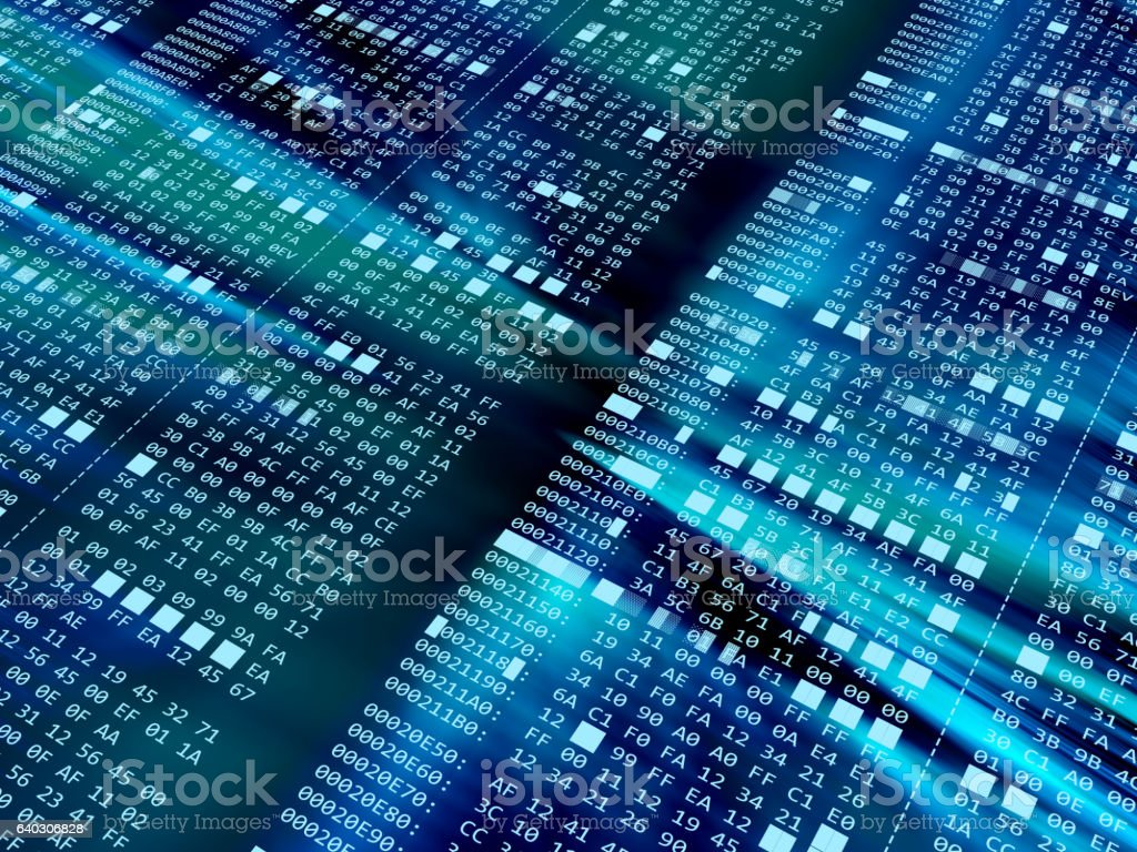 hexadecimal code stock photo