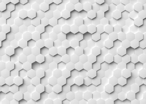 六角 3d 背景 - 蜂巢式樣 個照片及圖片檔