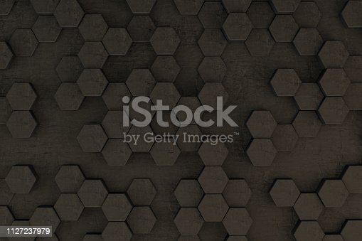 istock Hexagon, Hexagonal, Honeycomb Abstract Low Poly 3D Background 1127237979