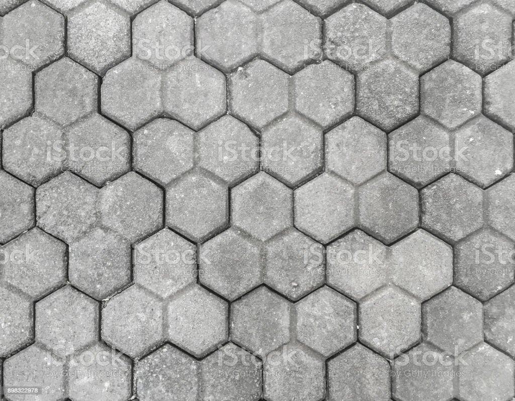 Hexagon paving stone textured stock photo