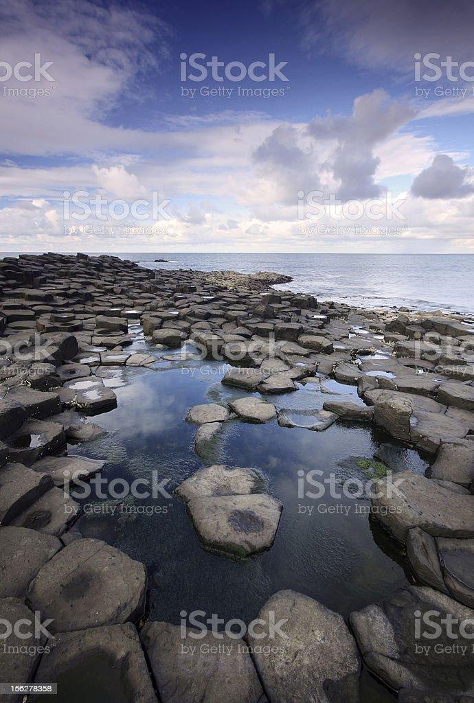 Hexagon rocks of the Giant's Causeway royalty-free stock photo