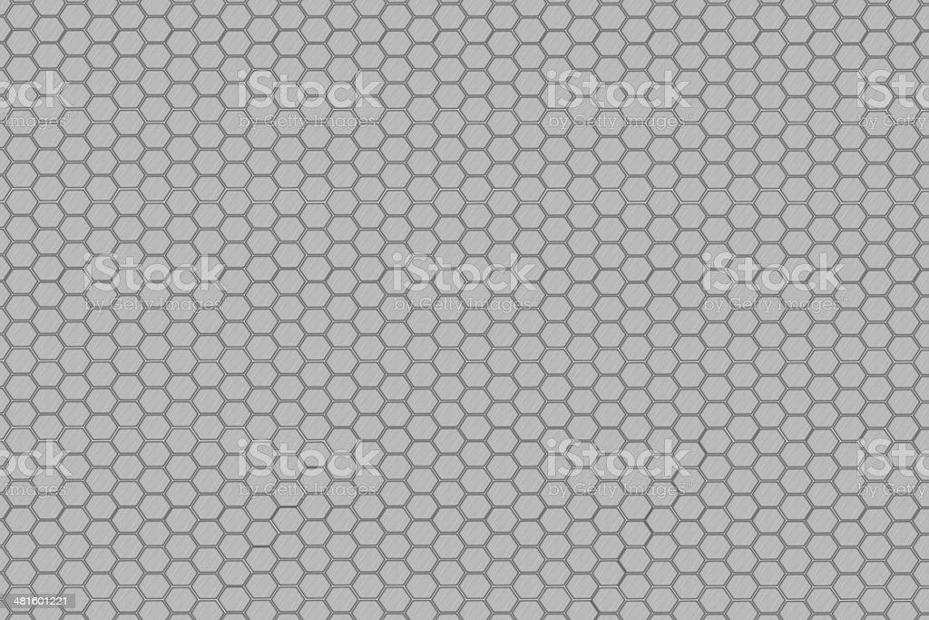 Hexagon steel net stock photo