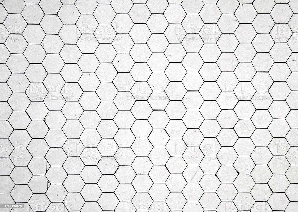 Hexagon Tile Floor Circa 1800 royalty-free stock photo