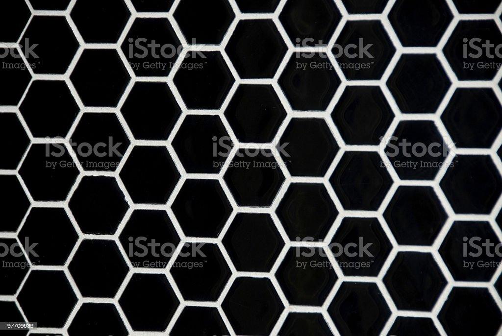 Hexagon tile royalty-free stock photo