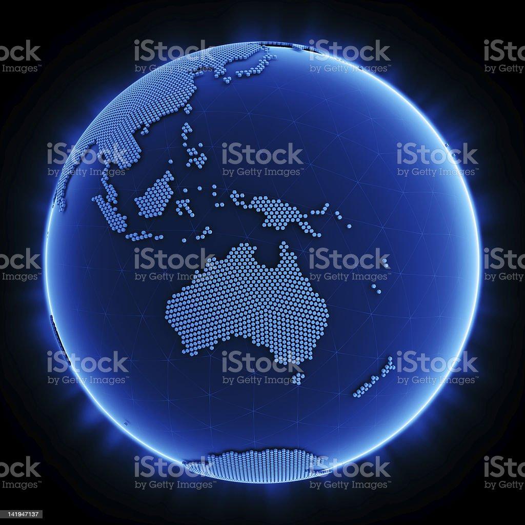 Hexagon world stock photo