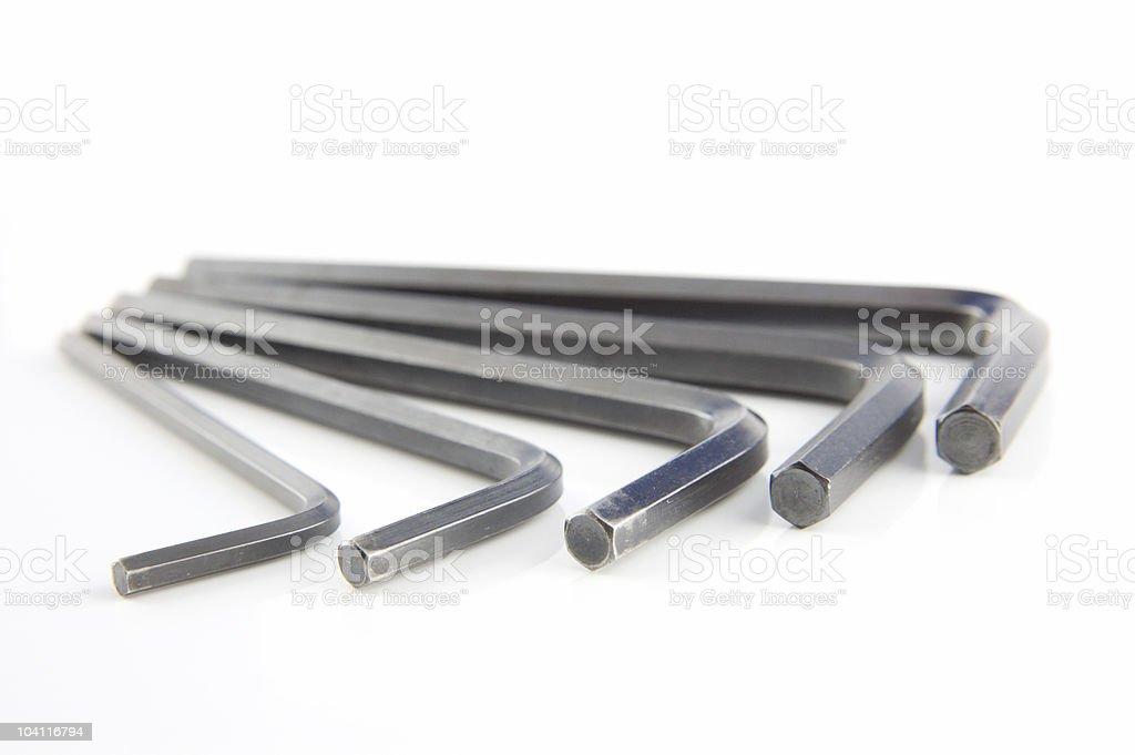 Hexagon Wrench Set stock photo