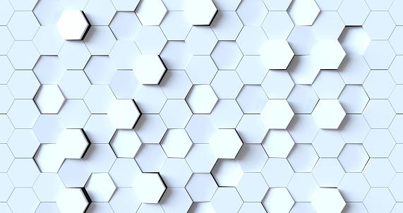 486421008 istock photo Hexagonal abstract 3d background 1178613737