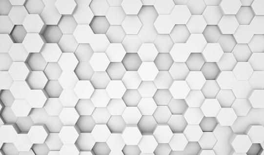 486421008 istock photo Hexagonal abstract 3d background 1187550494