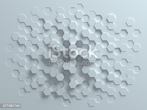 istock hexagonal abstract 3d background 477481744