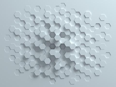 486421008 istock photo hexagonal abstract 3d background 477481744