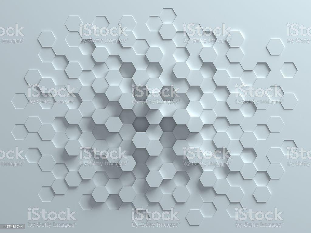 Fundo 3d abstrata hexagonal - foto de acervo