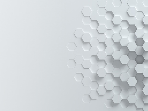 istock hexagonal abstract 3d background 486421008