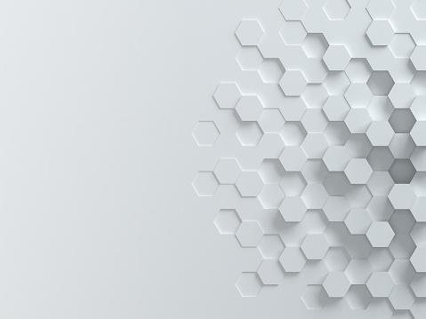 Hexagonal Abstract 3d Background 照片檔及更多 2015年 照片