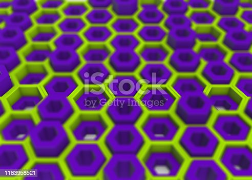 Hexagonal abstract background