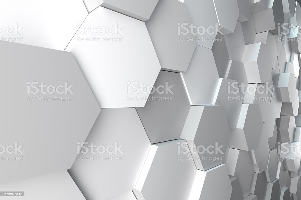 hexagonal abstract background - foto de acervo
