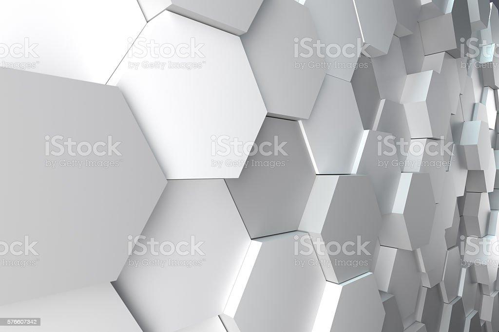 hexagonal abstract background stock photo