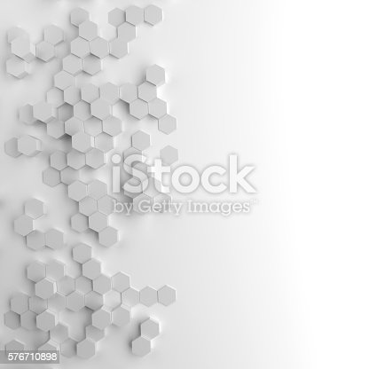 istock hexagonal abstract background 576710898