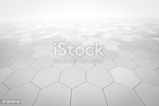istock hexagonal abstract background 613518142