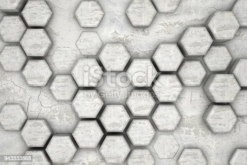 477481744istockphoto Hexagonal Abstract, Honeycomb 3D Background 943333868