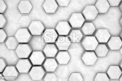 477481744istockphoto Hexagonal Abstract, Honeycomb 3D Background 943333914