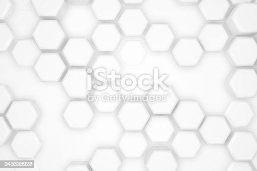 477481744istockphoto Hexagonal Abstract, Honeycomb 3D Background 943333928
