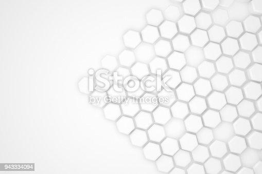 477481744istockphoto Hexagonal Abstract, Honeycomb 3D Background 943334094