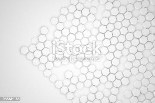 477481744istockphoto Hexagonal Abstract, Honeycomb 3D Background 943334186