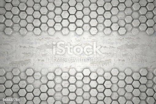 477481744istockphoto Hexagonal Abstract, Honeycomb 3D Background 943337784