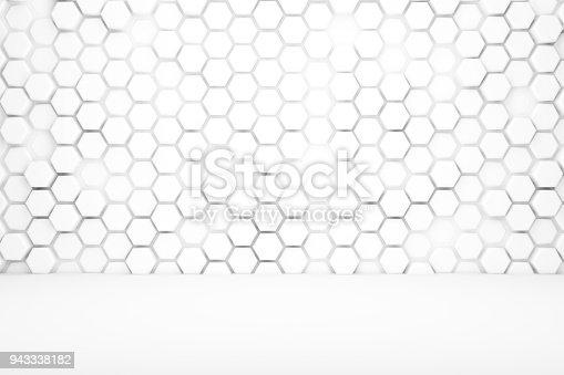 477481744istockphoto Hexagonal Abstract, Honeycomb 3D Background 943338182