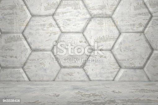 477481744istockphoto Hexagonal Abstract, Honeycomb 3D Background 943338406