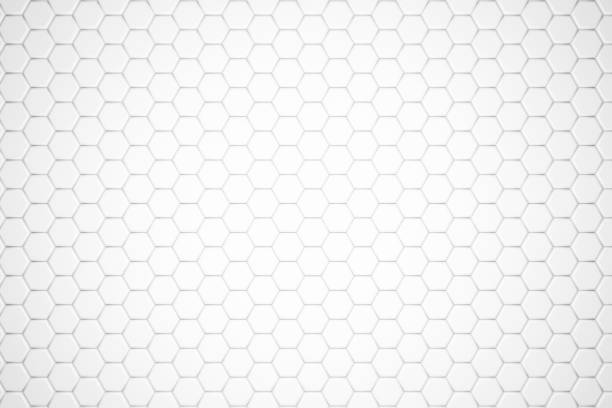 hexagonal abstract, honeycomb 3d background - esagono foto e immagini stock