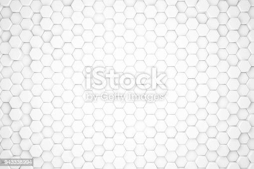477481744istockphoto Hexagonal Abstract, Honeycomb 3D Background 943338994