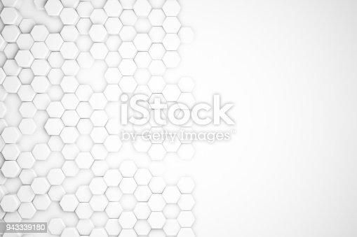 477481744istockphoto Hexagonal Abstract, Honeycomb 3D Background 943339180