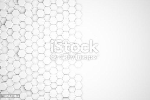 477481744istockphoto Hexagonal Abstract, Honeycomb 3D Background 943339404