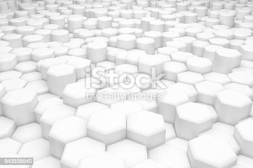 477481744istockphoto Hexagonal Abstract, Honeycomb 3D Background 943339540
